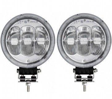 2x 12 24v 7 Round Cree Led Spot Fog Lights Lamp Drl Park Light Dual Function Cree Led Led Spot Lamp Light