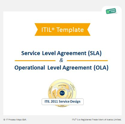 Service Level Agreement (SLA)  Operational Level Agreement (OLA - service level agreement