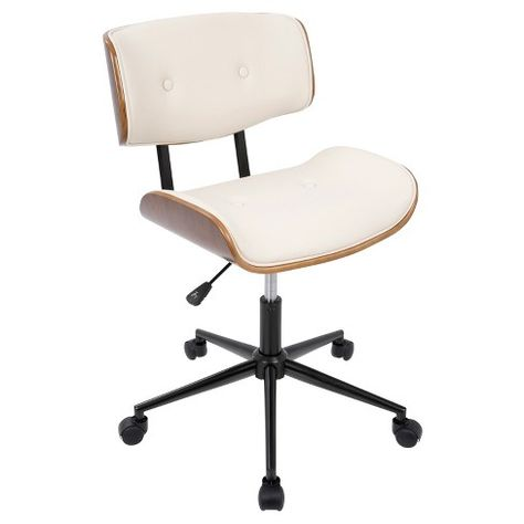 Peachy Ripple Ivory Leather Office Chair With Brass Frame Reviews Spiritservingveterans Wood Chair Design Ideas Spiritservingveteransorg