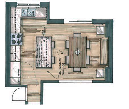Interior Design Kitchen Drawings candice olson's divine design: perfect union | elle decor