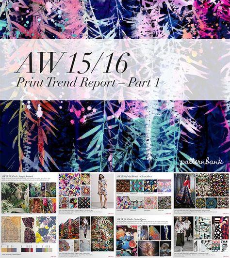 Autumn/Winter 2015/16 Print Trend Report Collection – 3 X PDF Bundle   Patternbank