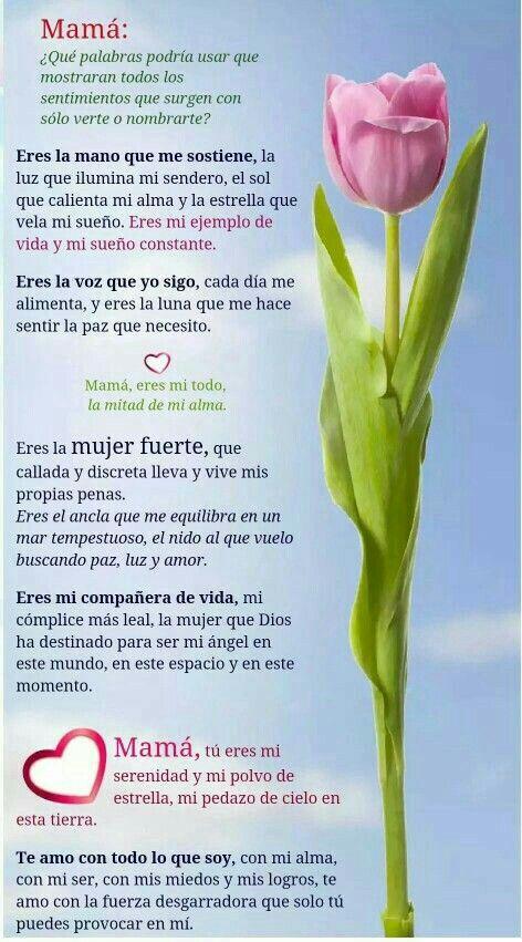 Poemas Bonitas Cartas Para El Dia De La Madre Pin De Maria Romero Aranda En Mama Y Papa Carta A Mi Madre