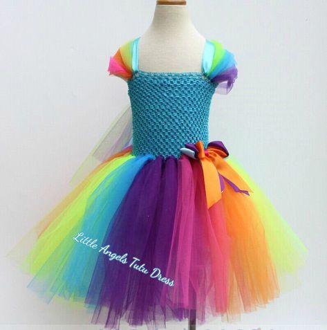 Photo of Rainbow Tutu Dress – Handmade Birthday Dress – Rainbow Dress – Birthday Party Dress – Bright Tutu Dr