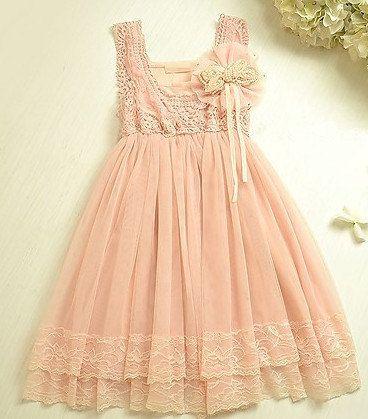 Girls Vintage Lace Dress