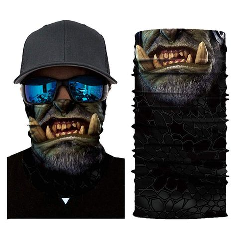 Scary Face Mask Binmer Women Men Cycling Outdoor Head Scarf Neck Windproof Face Mask Sun protection Headband A *** Look into the photo by going to the link. (This is an affiliate link). #scaryhalloweencostumesformen