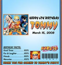 Naruto tarp naruto invitation naruto birthday theme nivek yor naruto candy wrappers birthday party favors stopboris Choice Image