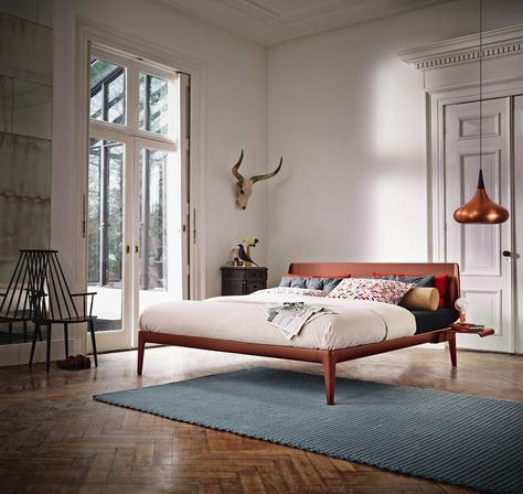 Auping Essential Bett in der Trendfarbe Rusty Red #details #bett