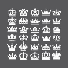 Crown Svg Crown Clipart Queen Crown King Crown Princess Crown Clipart Vector Svg Dxf Eps Ai Png Design Elements Instant Download Crown Clip Art Crown Tattoo Design Crown Tattoo