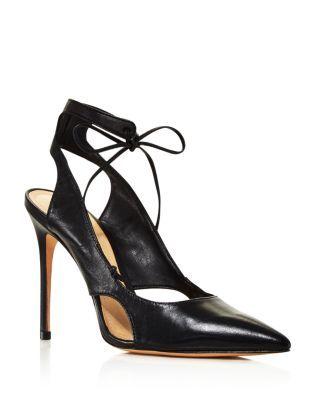8dfb822a142 SCHUTZ Women's Sharon Cutout Leather Ankle-Tie Pumps ...