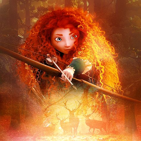 Merida - disney-pixar-brave- Artwork