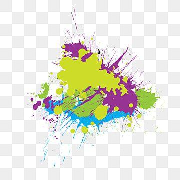 Colorful Stain Paint Splatter Splash Background Colorful Stain Paint Png And Vector With Transparent Background For Free Download Vsplesk Kraski Abstraktnoe Bryzgi Kraski