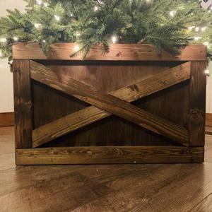 Folding Wood Christmas Tree Box Stand Wood Tree Skirt Etsy In 2020 Christmas Tree Box Wood Christmas Tree Christmas Tree Box Stand