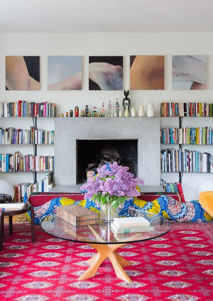 Fireside Vibes - Work + Sea's Colorful Los Angeles Home  - Photos