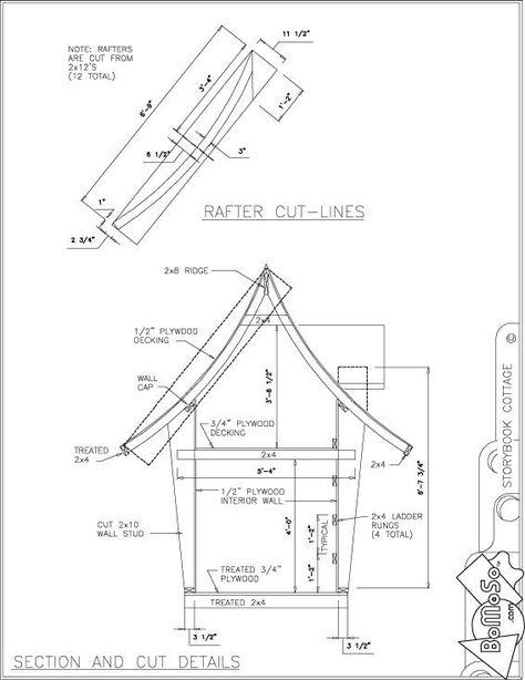 Comment Construire Une Cabane En Bois Simple Plan Cabane En Bois - plan de cabane de jardin