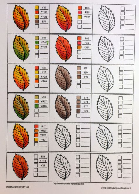 Discover thousands of images about Copic color blends for Leaves Coloring Tips, Leaf Coloring, Coloring Books, Coloring Pages, Adult Coloring, Colored Pencil Tutorial, Colored Pencil Techniques, Copic Markers Tutorial, Copic Marker Art