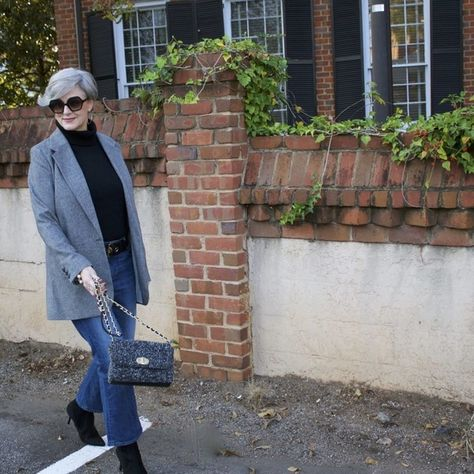 Layer with a Turtleneck - Chic Ways To Wear Blazers for Women Over 50 - Photos