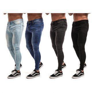 d117a6cd557a53 Skinny #jeans para hombres negro Streetwear Hip Hop Jeans Hombre Slim Fit  moda Biker tobillo Tight Dropshipping zm01