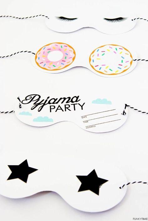 invitation soiree pyjama