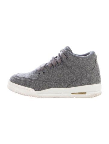 newest collection a9028 98e4d Nike Air Jordan Boys  3 Retro Wool Sneakers