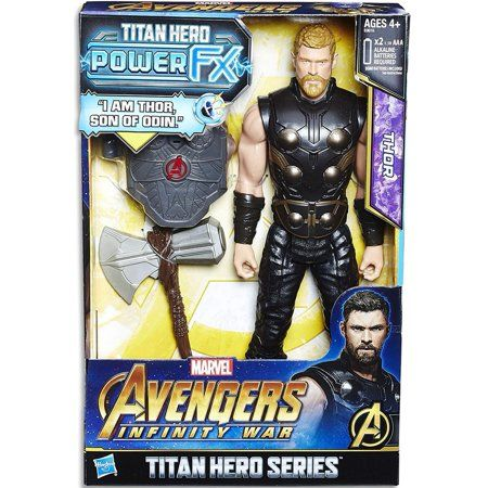 Thor titan hero series for ages 4+— Hasbro,hammer included
