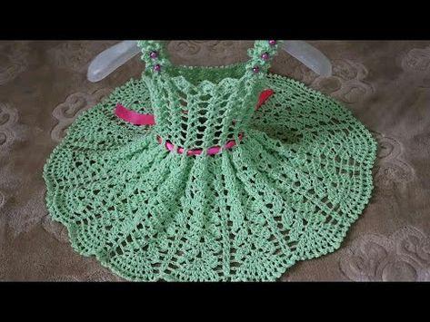 كروشيه فستان اطفال تجهيزات العيد فستان بناتي سهل جدا خطوة بخطوة رهف1 Crochet Baby Dress Youtube Crochet Baby Dress Crochet Knit Patterns