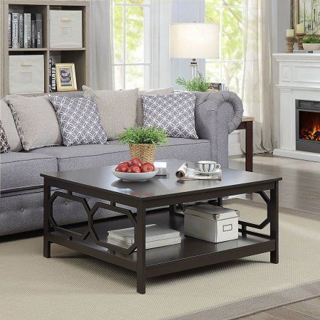 Convenience Concepts Omega Square 36 Inch Coffee Table Brown Living Room Furniture Furniture Coffee Table Walmart