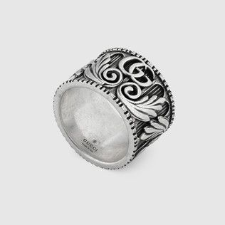 4863a82024 Gucci Thin silver ring with feline head in 2019 | jewelry | Silver ...