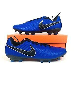 Nike Tiempo Legend 7 Vii Pro Fg Soccer Cleats Ah7241 400 Black Blue Mens Ebay Soccer Cleats Nike Soccer Cleats Usa Soccer Women