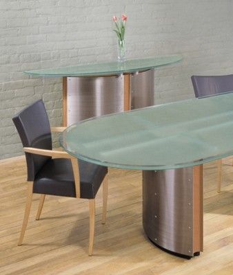 custom made crescent conference table and console by stoneline rh pinterest com