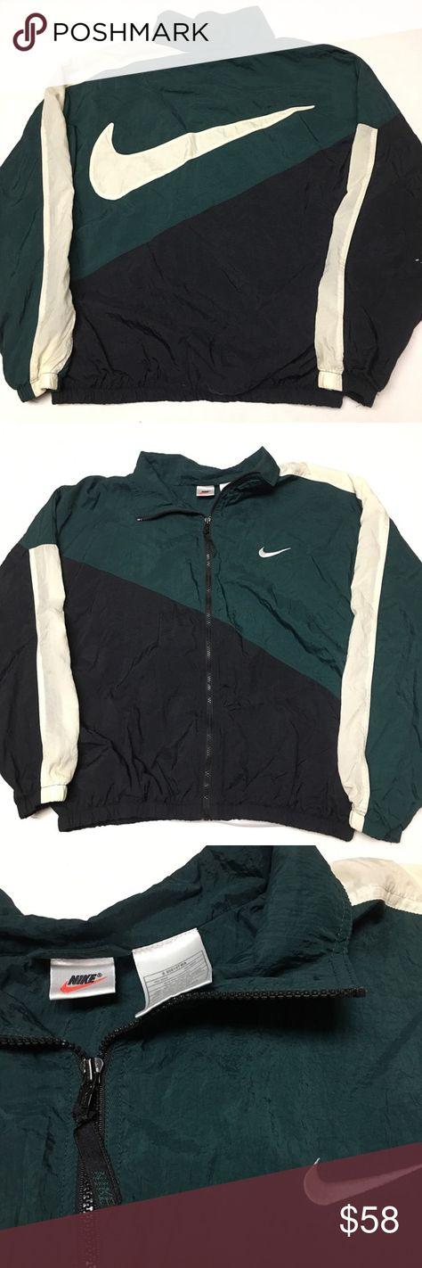 Vintage Nike big logo check zip Windbreaker Jacket