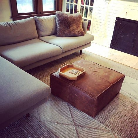 Awesome Lyle Leather Ottoman In 2019 Leather Ottoman Ottoman Creativecarmelina Interior Chair Design Creativecarmelinacom