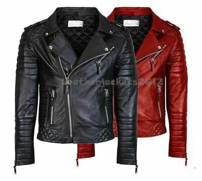 Sponsored Ebay Mens Genuine Real Leather Jacket Asymmetrical Biker Slim Fit New S49c In 2020 Real Leather Jacket Leather Jacket Jackets