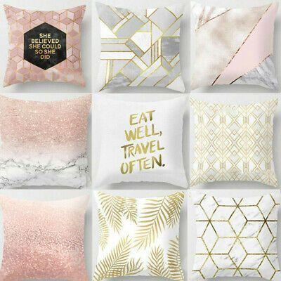 Decor Car Seat Pillow Cases Peach Skin Cashmere Geometric Printed Cushion Cover