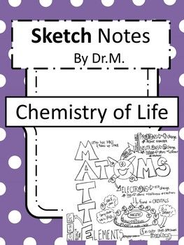 Chemistry Of Life Sketch Notes W Teacher S Guide Student Notes