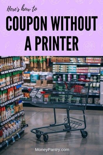 15 Ways to to Coupon without a Printer (Even Walmart Coupons) - MoneyPantry Here's how you can use coupons without printing them (Psst, no print coupons apps aren't the only way! Extreme Couponing Tips, How To Start Couponing, Couponing For Beginners, Couponing 101, Saving Money Chart, Best Money Saving Tips, Money Tips, Frugal Living Tips, Frugal Tips