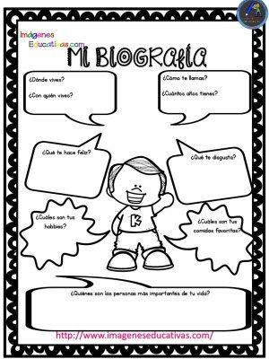 Autobiografía Para Niños Primaria Y Primer Grado Primeros Grados Actividades De Autoestima Actividades Escolares