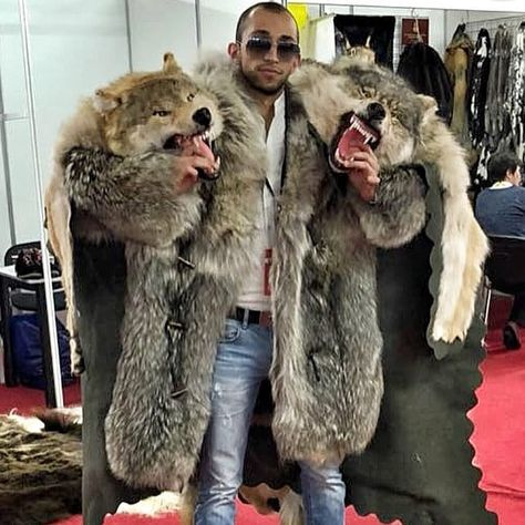 Sometimes searching for random tags in Russian could give you amazing results! Just look at these huge bear coats!