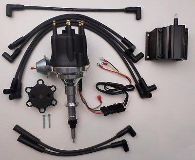 Small Cap Chevy Inline 6 Cyl 194 230 250 292 Black Hei Distributor Coil Wires Chevy Chevy Trailblazer Chevy Motors