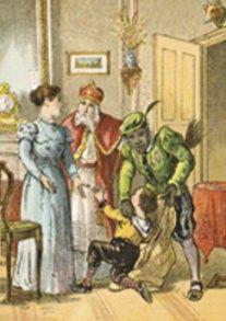 Santa punishes children - Google zoeken