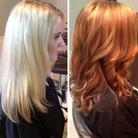 Add warmth and dimension to your hair! Copper looks amazing when combined with strategically placed highlights and lowlights. On a 7 level base, I opt for creme brûlée (level 8 highlight) and a toffee (level 6 lowlight) tones. #sydney #adelaide #m   Flickr - Photo Sharing!