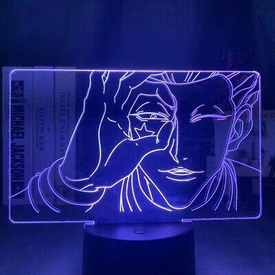 Led Night Light Hunter X Hunter Anime Hisoka Face 3d Lamp Figure Led Touch Usb In 2020 Led Night Light Night Light Kids Night Light