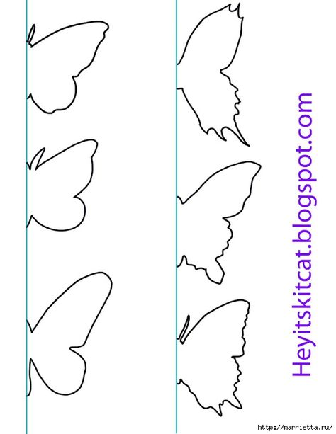 butterfly template - she used to make a mobile - bjl patterns - butterfly template