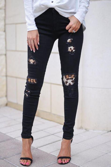 f817708d7f4c Leopard patch Judy blue jeans mid rise | Products | Jeans, Black jeans,  Distressed denim jeans