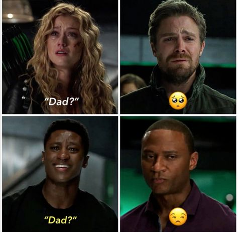 When a mysterious new Deathstroke appears in Star City, Oliver and Team Arrow insist on taking down this villain themselves. Meanwhile, reeling from the loss of one of their own, the future Team Arrow figures out a new way to try and stop JJ. Superhero Shows, Superhero Memes, Stephen Amell Arrow, Arrow Oliver, Series Dc, Arrow Memes, Flash Funny, Arrow Tv Series, Oliver And Felicity