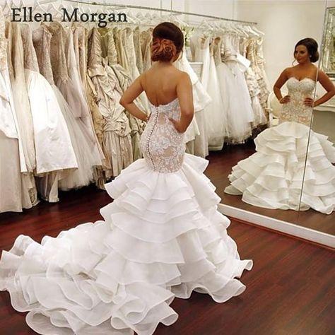 1090b2d287a Item Type  Wedding DressesWedding Dress Fabric  TulleNeckline   SweetheartFor Pregnant Women  NoBrand Name  Ellen MorganBuilt-in Bra   YesBack Design  ...