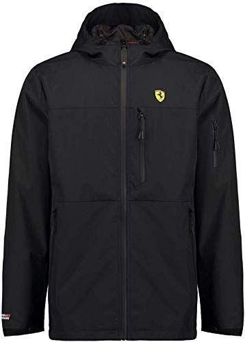Scuderia Ferrari Formula 1 Mens Black rain Jacket