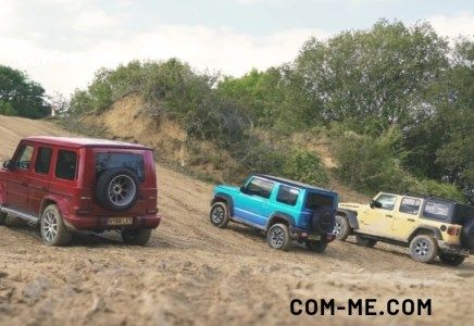 The A G Wagen Jimny And Jeep Fair In A Three Way Challenge G