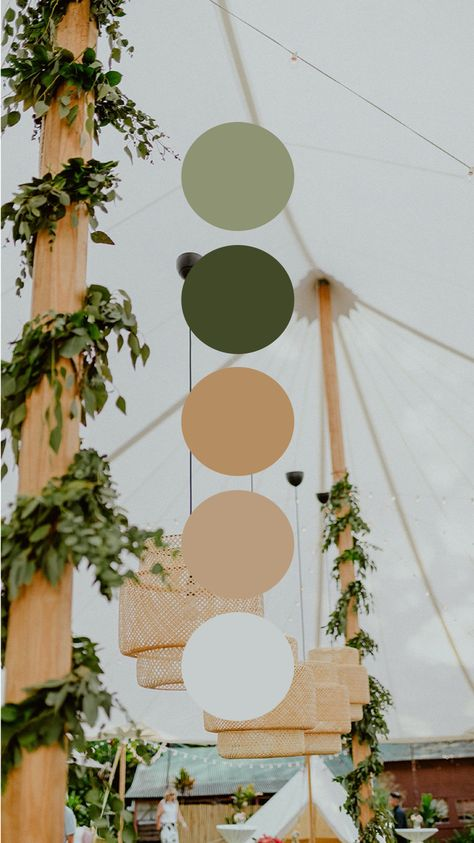 Luxury Bohemian Wicker and Green Color Palette Wedding
