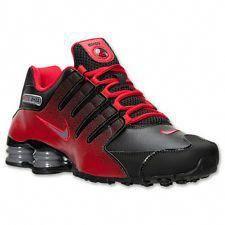 hot sale online 94c57 686c5 MEN S NIKE SHOX NZ RUNNING SHOES ~ BLACK COOL GREY UNIVERSITY RED ~ NEW