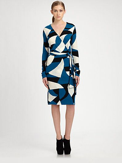 Diane von Furstenberg - Richley Wrap Sweaterdress - Saks.com